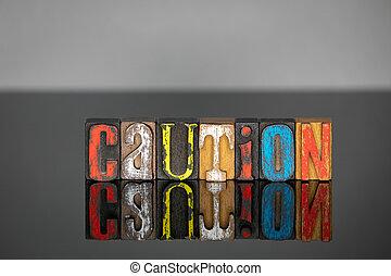 bois, prudence, mot, coloré, lettres
