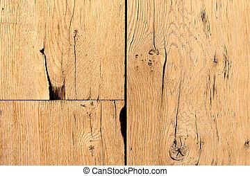 bois, résumé, vieux, planches, fond