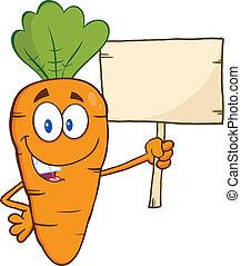 bois, rigolote, carotte, planche, tenue