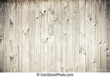 bois tanné, planche, barrière