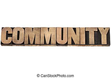 bois, type, communauté