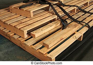 bois, usine, palettes