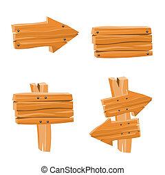 bois, vecteur, signes