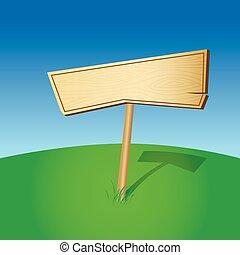 bois, vide, (vector), signe