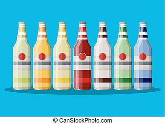 boisson carbonatée, juice., ou, bouteille