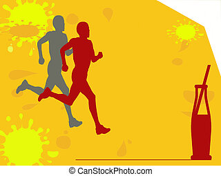 boisson, marathon, rafraîchissement