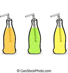 boisson non-alcoolisée, bouteilles