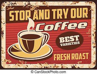 boisson, tasse fumante, café, vapeur, frais