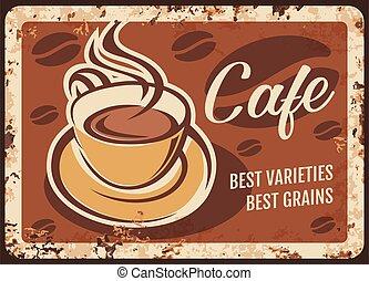 boisson, vapeur, frais, tasse fumante, café