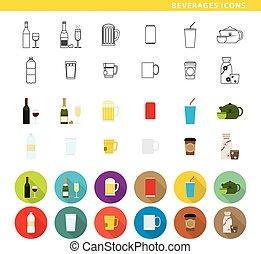 boissons, icons.