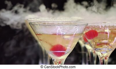 boissons, pyramide, dîner, lunettes, fête, tour, champagne, accueil, restaurant, alcool, réception, mariage