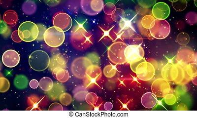 bokeh, coloré, cercle, étoiles