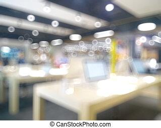 bokeh, retails, technologie, fond, brouillé