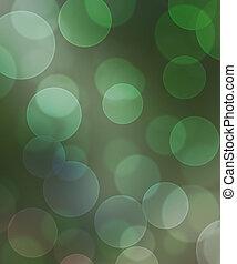 bokeh, vert, vertical, fond
