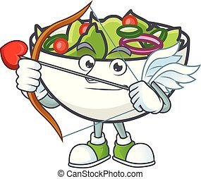 bol, salade, mascotte, cupidon