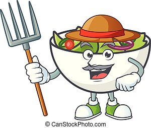 bol, salade, paysan, mascotte