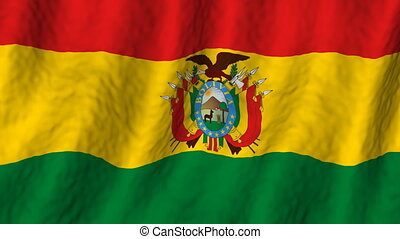 bolivie, faire boucle, fond, drapeau