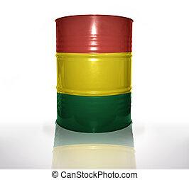 bolivien, drapeau, baril