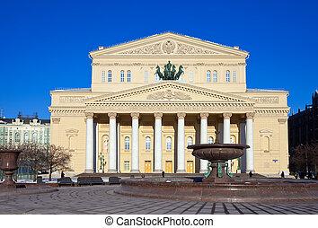 bolshoi, moscou, russie, théâtre