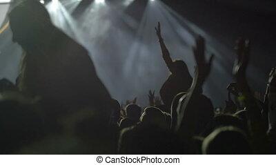 bon, concert, avoir, ventilateurs, temps, musical