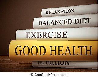 bon livre, titre, santé