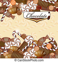 bonbon chocolat, fond