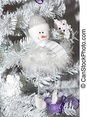 bonhomme de neige, arbre