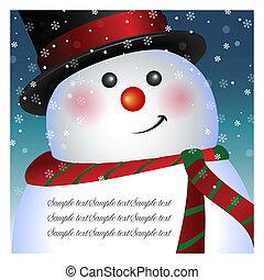 bonhomme de neige, carte