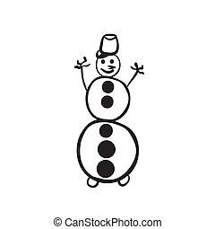 bonhomme de neige, croquis