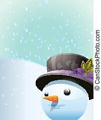 bonhomme de neige, fond