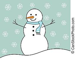 bonhomme de neige, hiver
