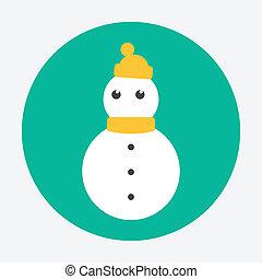 bonhomme de neige, icône