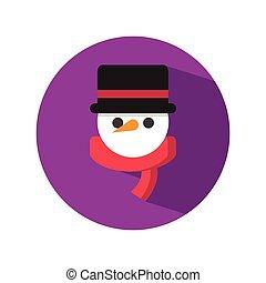 bonhomme de neige, mignon, blackhat