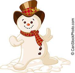 bonhomme de neige, mignon, noël