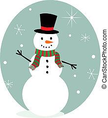 bonhomme de neige, mignon