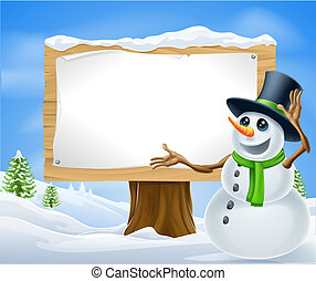bonhomme de neige, noël, signe