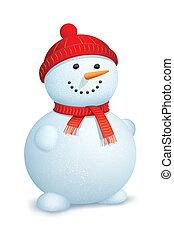 bonhomme de neige, porter, écharpe