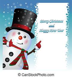 bonhomme de neige, porter, carte