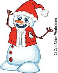 bonhomme de neige, porter, claus, déguisement, santa
