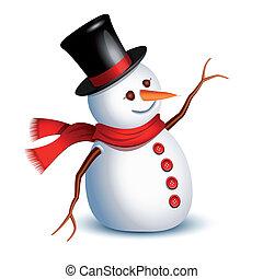 bonhomme de neige, salutation
