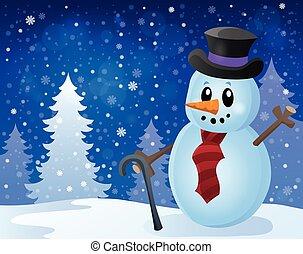 bonhomme de neige, topic, image, hiver, 8