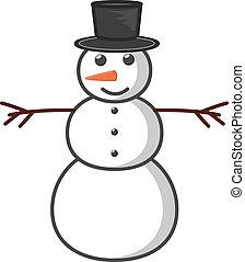 bonhomme de neige, vecteur, illustration
