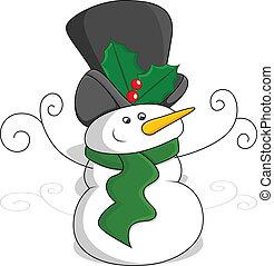 bonhomme de neige, vecteur, noël