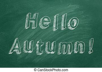 bonjour, !, automne