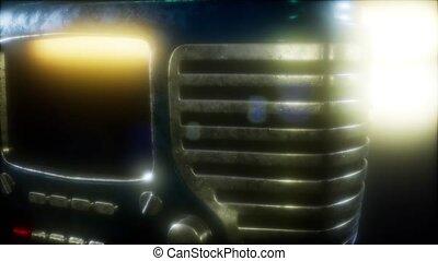 bonne radio, vieux façonné, retro