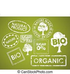 bons alimentation, ensemble, organique