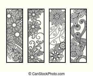 bookmarks, coloration, ensemble