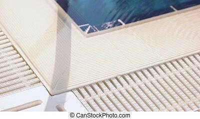 bord, day., blanc, ensoleillé, piscine