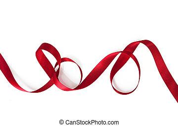 bordage, ruban, rouges