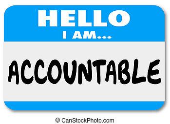 bouc émissaire, nom, accountable, étiquette, responsabilité, bonjour